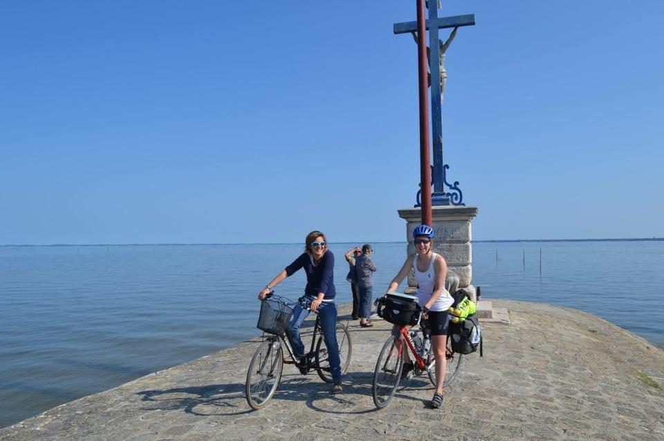 Port de Gujan départ vélo avec Anneso